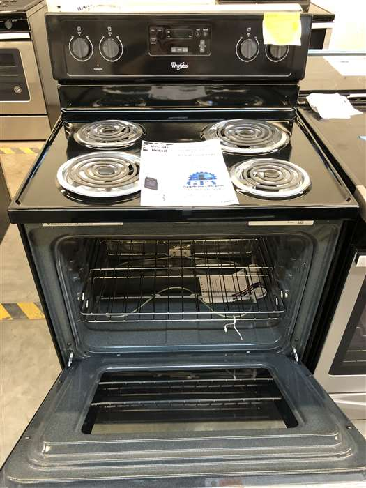 Whirlpool Electric Range Black With Coils Gfy Appliance