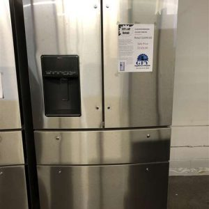 4-door whirlpool stainless steel refrigerator