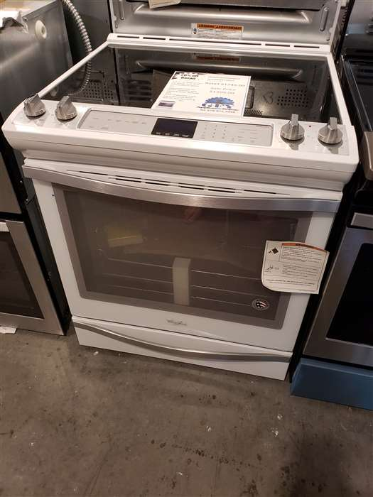 6.4 CU FT SLIDE IN CONVECTION OVEN IN WHITE ICE