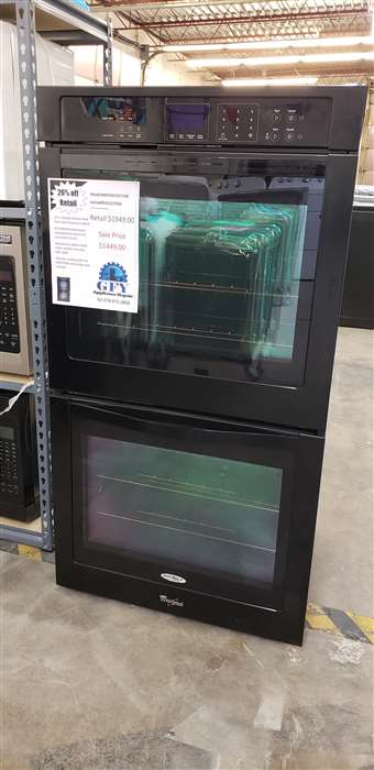 "27"" Double Wall Oven (Electric) Black"