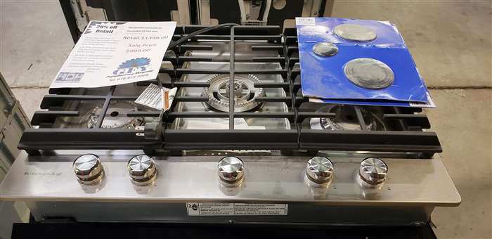 Kitchenaid 30 Gas Cooktop Stainless Gfy Appliance Repair Showroom
