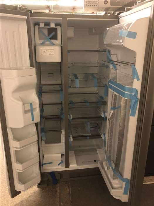 interior whirlpool stainless steel refrigerator finger print resistant