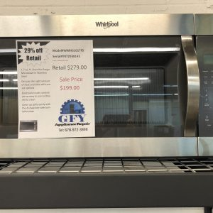 whirlpool stainless microwave