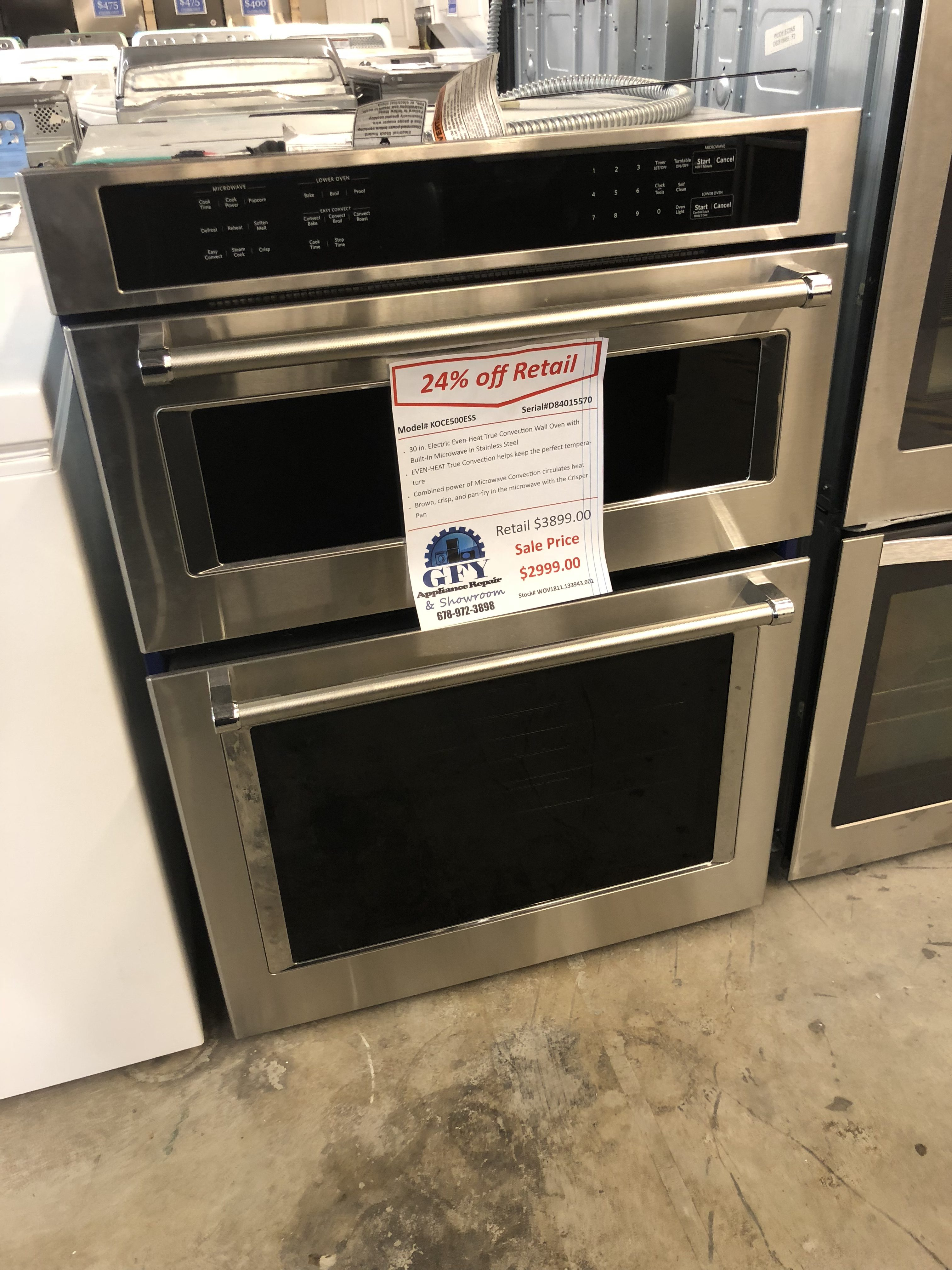 KitchenAid Wall Oven Microwave Combo SS