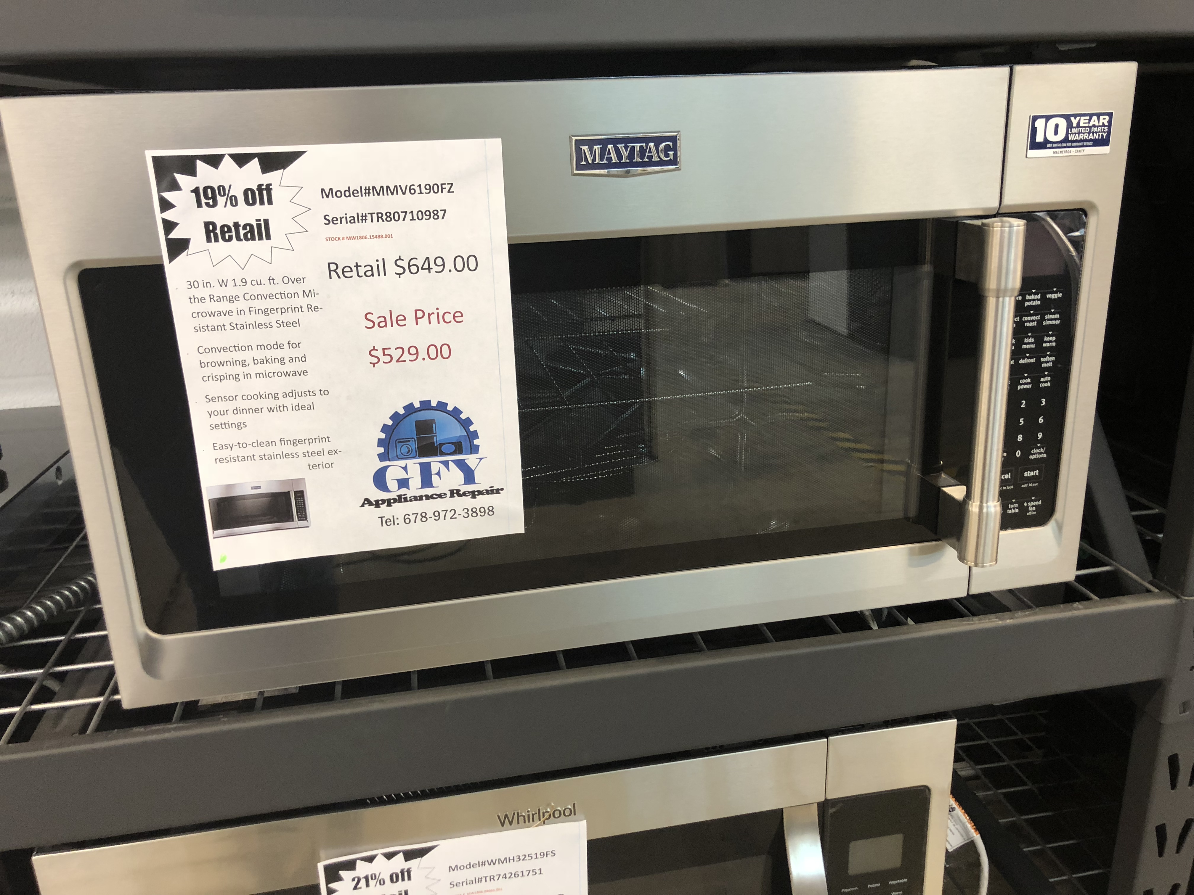 Range Convection Microwave Ss