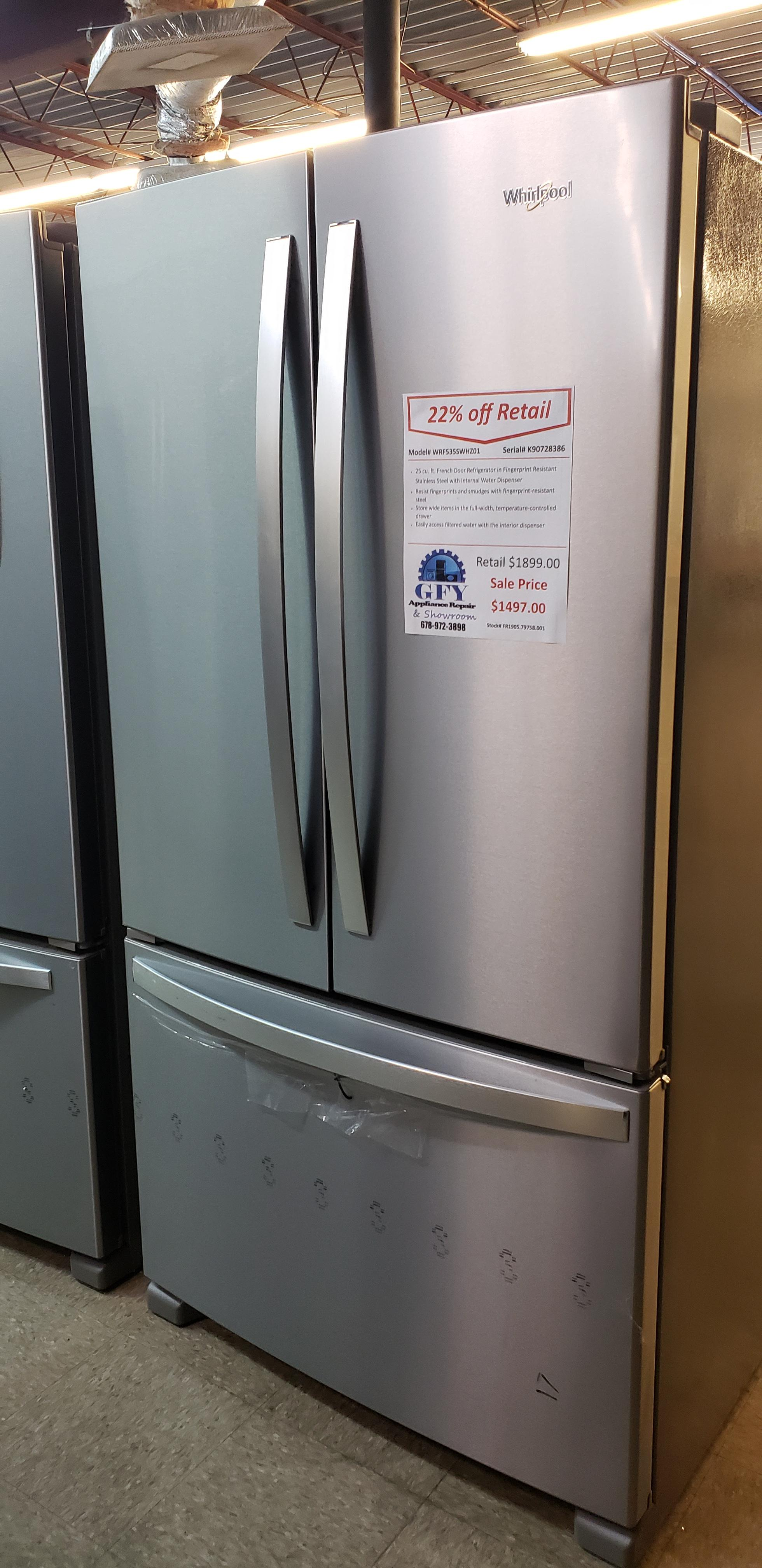 Whirlpool 25 cu ft  French Door Fridge in Stainless