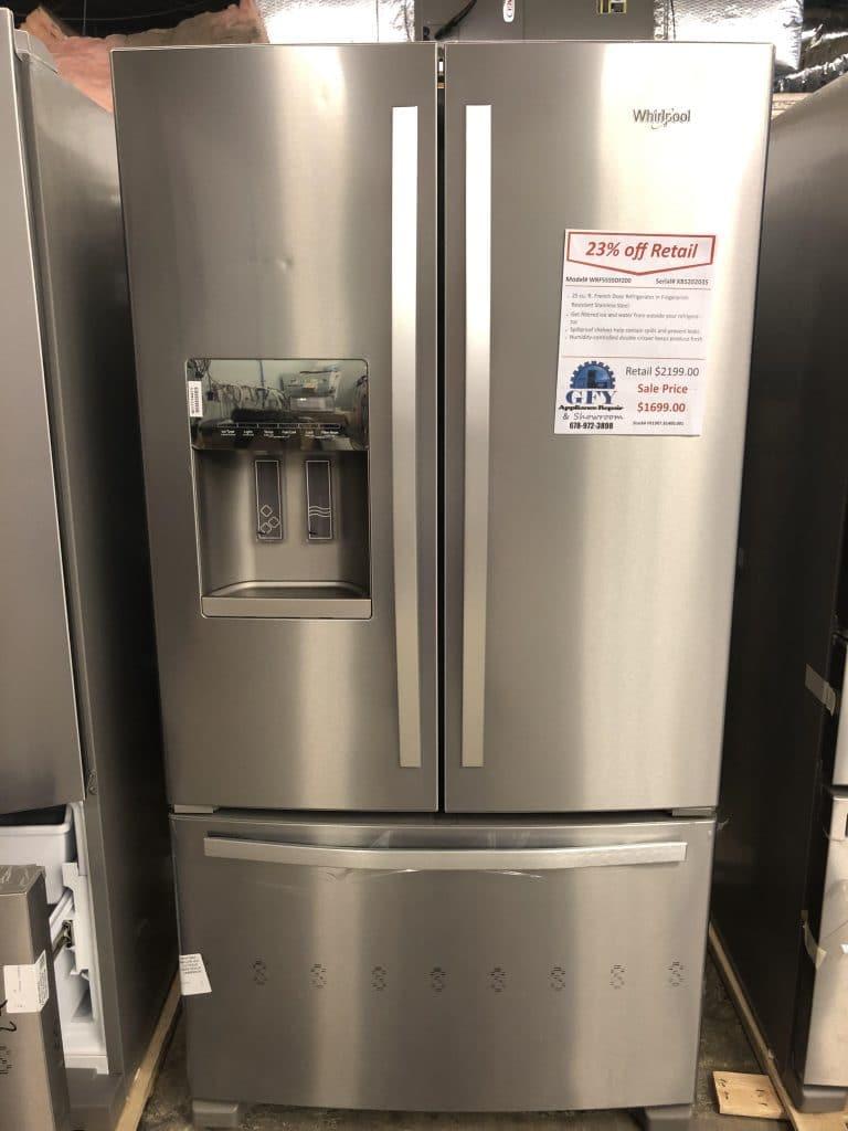 Whirlpool French Door Refrigerator Ss Gfy Appliance