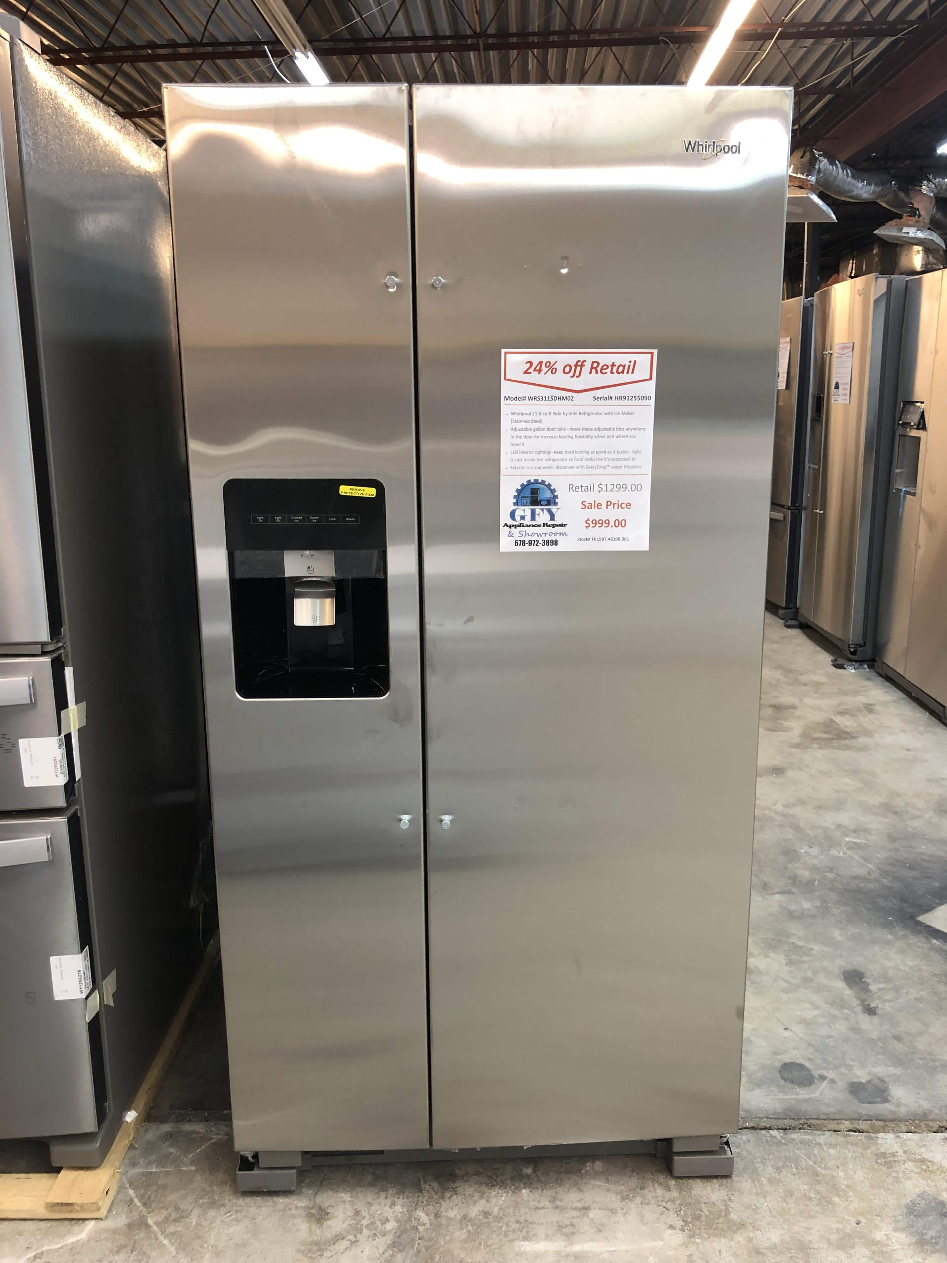 Whirlpool Side-by-Side Refrigerator SS