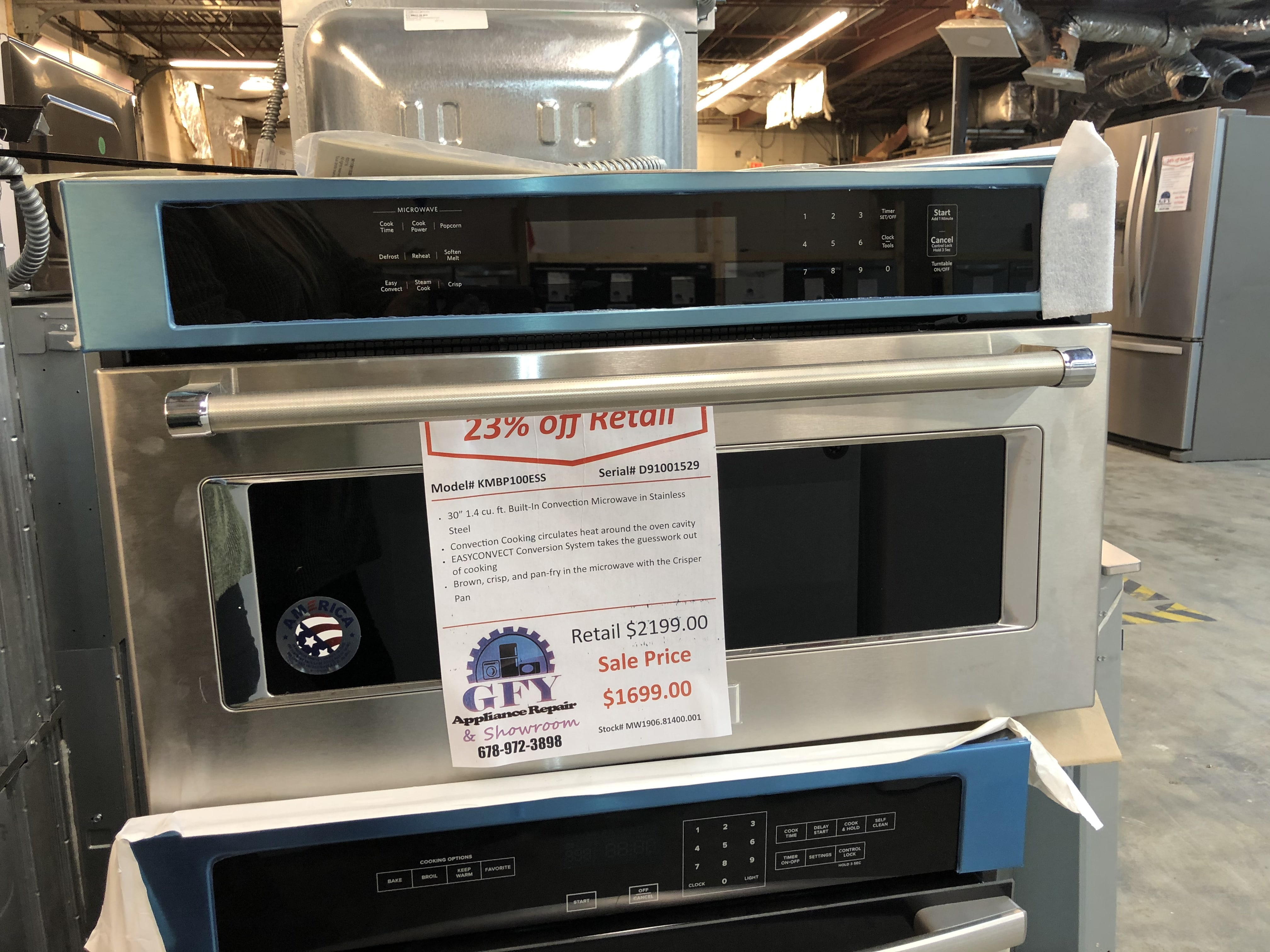 KitchenAid Built-In Convection Microwave