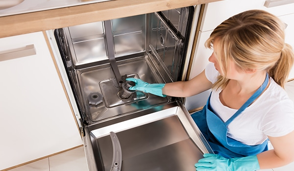 how to clean a dishwasher drain trap